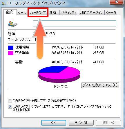 ハードディスクのハードウェア