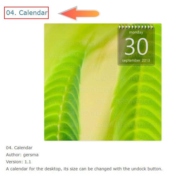 04. Calendar