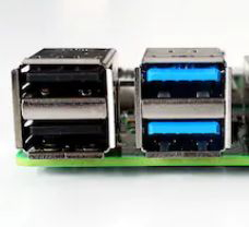 USBポート青色